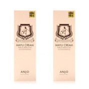 Korean Cosmetics_Anjo Professional Mayu Cream 80mlx2ea Horse Oil Anti-wrinkle Whitenning