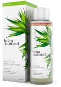InstaNatural Mattifying Toner - Dual Phase for Facial Oil Control & Matte Skin - Anti Shine Daily Primer with Pure & Natural Mineral Extracts - Alcohol Free Pore Reducer for All Day Beauty Care - 240ml