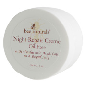 **NEW ITEM** BEST Night Repair Oil Free Cream - Advanced Skin Moisturiser - Fast Absorbing - Formulated with Royal Jelly, Hyaluronic Acid and Triglycerides - Visible Results - Healthy Radiant Skin