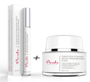 PureLx Acne Fighting Duo - Clear Anti Acne & Blemish Solution with Micro-Dermabrasion Exfoliating Cleanser For Face