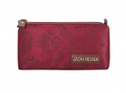 Jacki Design New Essential Travle Cosmetic Bag - Burgundy