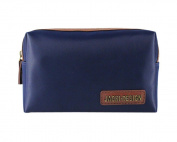 Jacki Design Men's Travel Toiletry Bag Small - Blue/Brown