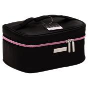 STYLEWURKSTM Bold Basic Train Case in Black/Pink