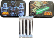 Star Wars the Force Awakens Darth Vader and Yoda Tin Container Cotton Swabs Collector Series with 30 Cotton Swabs Inside