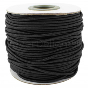 CleverDelights Black Fabric Elastic Cord - 10 Yards - 2mm - Crafts Beading Jewellery Stretch Shock Cording