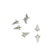 740 Pieces Antique Silver Tone Jewellery Making Charms Findings Fashion Wholesale Supplies Pendant Lots Bulk Supply X3MS8U Ear Drop Connector