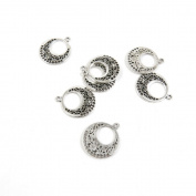 480 Pieces Antique Silver Tone Jewellery Making Charms Findings Fashion Wholesale Supplies Pendant Lots Bulk Supply I6CC2T Ear Drop Connector
