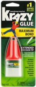 Krazy Glue Maximum Bond No Clog Extended Precision Tip Super Strength Bond