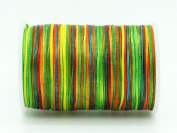 RAINBOW 0.8x0.4mm Flat Waxed Braided Polyester Cord Beading Jewellery Leather Craft String