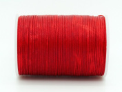 RED 0.8x0.4mm Flat Waxed Braided Polyester Cord Beading Jewellery Leather Craft String