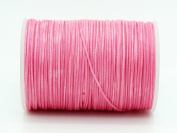 PINK 0.8x0.4mm Flat Waxed Braided Polyester Cord Beading Jewellery Leather Craft String