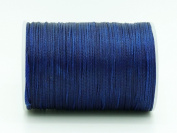 ROYAL BLUE 0.8x0.4mm Flat Waxed Braided Polyester Cord Beading Jewellery Leather Craft String