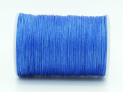 BLUE 0.8x0.4mm Flat Waxed Braided Polyester Cord Beading Jewellery Leather Craft String
