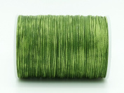 PEA GREEN 0.8x0.4mm Flat Waxed Braided Polyester Cord Beading Jewellery Leather Craft String