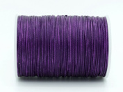 PURPLE 0.8x0.4mm Flat Waxed Braided Polyester Cord Beading Jewellery Leather Craft String