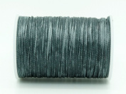 SLATE GREY 0.8x0.4mm Flat Waxed Braided Polyester Cord Beading Jewellery Leather Craft String