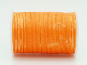 PUMPKIN 0.8x0.4mm Flat Waxed Braided Polyester Cord Beading Jewellery Leather Craft String