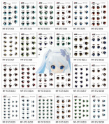 WellieSTR 42 styles Water stickers Eyes Water Stickers For Doll Clay Craft Making