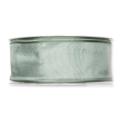 FloristryWarehouse Fabric Ribbon 3.8cm wide x 27 yards Pale Sage