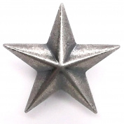 Star 3D Line 24 Snap Cap Antique Nickel 2.5cm 1265-90