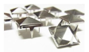 Trimming Shop 50 X Spike Square Studs Rivets For Leather Clothing Bags Silver / Nickel 6Mm