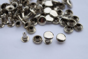 Trimming Shop 100 Pieces Silver/Nickel 8 X 8mm Tubular Rivets Two Part Manually Pressed Metal Fasteners Custom Apparel Or Repairing For Clothing