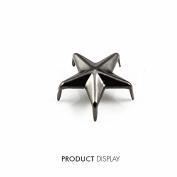 200pcs Craft Metal Black Gun 5 Studs Prong Star Spike Spot Tack Nailhead Rivets 15x15mm Garment Sew On Cloth Bag Sewing K237