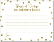 48 Gold Glitter Graphic Dots Couple Advice Cards