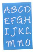 Westcott Letter Craft Lettering Stencil, Angelina Script, 1.9cm & 2.5cm , Transparent