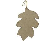 Craft Ped Paper Mache Ornament Flat Leaf A 13cm