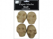 Craft Ped Paper Mache Skulls Pkg 4pc