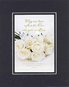 GoodOldSaying - Poem for Love & Marriage - May our lives reflect the One who gave us Love . . . on 8x10 Biblical Verse set in Double Mat (Black On Black) - A Priceless Poetry Keepsake Collection