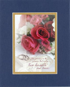 GoodOldSaying - Poem for Love & Marriage - How precious is the promise . . . on 8x10 Biblical Verse set in Double Mat (Blue On Gold) - A Priceless Poetry Keepsake Collection