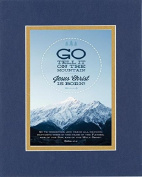 GoodOldSaying - Poem for Inspirations - Go, tell it on the mountain . . . on 8x10 Biblical Verse set in Double Mat (Blue On Gold) - A Priceless Poetry Keepsake Collection