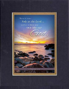 GoodOldSaying - Poem for Inspirations - There is none holy as the Lord . . .(1 Samuel 2:2) . . . on 8x10 Biblical Verse set in Double Mat (Black On Gold) - A Priceless Poetry Keepsake Collection