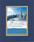 GoodOldSaying - Poem for Inspirations - The landscape frozen white . . . on 8x10 Biblical Verse set in Double Mat (Blue On Gold) - A Priceless Poetry Keepsake Collection
