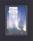 GoodOldSaying - Poem for Inspirations - Christ's shining, open tomb needed no sun . . . on 8x10 Biblical Verse set in Double Mat (Black On Black)- A Priceless Poetry Keepsake Collection
