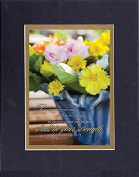 GoodOldSaying - Poem for Inspirations - In returning and rest shall ye be saved; (Isaiah 30:15) . . . on 8x10 Biblical Verse set in Double Mat (Black On Gold) - A Priceless Poetry Keepsake Collection