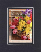 GoodOldSaying - Poem for Easter - The Lord is Risen - Luke 24:5-6 . . . on 8x10 Biblical Verse set in Double Mat (Black On Black) - A Priceless Poetry Keepsake Collection