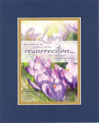 GoodOldSaying - Poem for Inspirations - Our Lord has written the promise of the resurrection . . . on 8x10 Biblical Verse set in Double Mat (Blue On Gold) - A Priceless Poetry Keepsake Collection