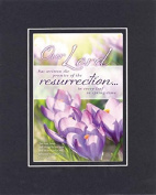 GoodOldSaying - Poem for Inspirations - Our Lord has written the promise of the resurrection . . . on 8x10 Biblical Verse set in Double Mat (Black On Black) - A Priceless Poetry Keepsake Collection