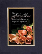 GoodOldSaying - Poem for Love & Marriage - May your unfailing love be with us . . . on 8x10 Biblical Verse set in Double Mat (Black On Gold) - A Priceless Poetry Keepsake Collection