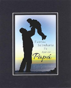 GoodOldSaying - Poem for Father's Day (In Spanish) - Strength, Wisdom, Faith (Exodus 20:12) . . . 8x10 Biblical Verse set in Double Mat (Black On Black) - A Priceless Poetry Keepsake Collection