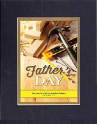 GoodOldSaying - Poem for Father's Day - Happy Father's Day (Proverbs 17:6) . . . Poem on 8x10 Biblical Verse set in Double Bevelled Matting (Black On Gold) - A Priceless Poetry Keepsake Collection