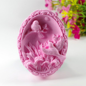 Longzang Birds Mould S450 Craft Art Silicone Soap Mould Craft Moulds DIY Handmade Candle Moulds