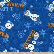 1 Yard - Frozen Olaf Chillin' Cotton Fabric - Disney Officially Licenced (Great for Quilting, Sewing, Craft Projects, Quilt, Throw Pillows & More) 1 Yard X 110cm