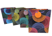 Medium Kaleidoscope Design Gift Bags - Any Occasion, Birthday, Anniversary, Graduation, Get Well, House Warming - 4 Bags