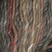 Plymouth Yarn Mushishi Big, 1 skein of colour #103, taupe / red / blue variegated