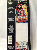 Counted Cross Stitch Bookmark - Away in a manger