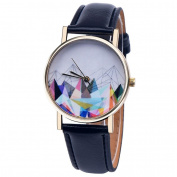Gotd Women Watches Leather Band Analogue Quartz Vogue Wrist Watch